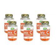 kit 6 Vitamina C (Ácido Ascórbico) - Pote Com 60 Cápsulas 550m