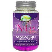 Magnesio Bisglicinato 100% Quelato 60 Capsulas - 100% Biodisponivel