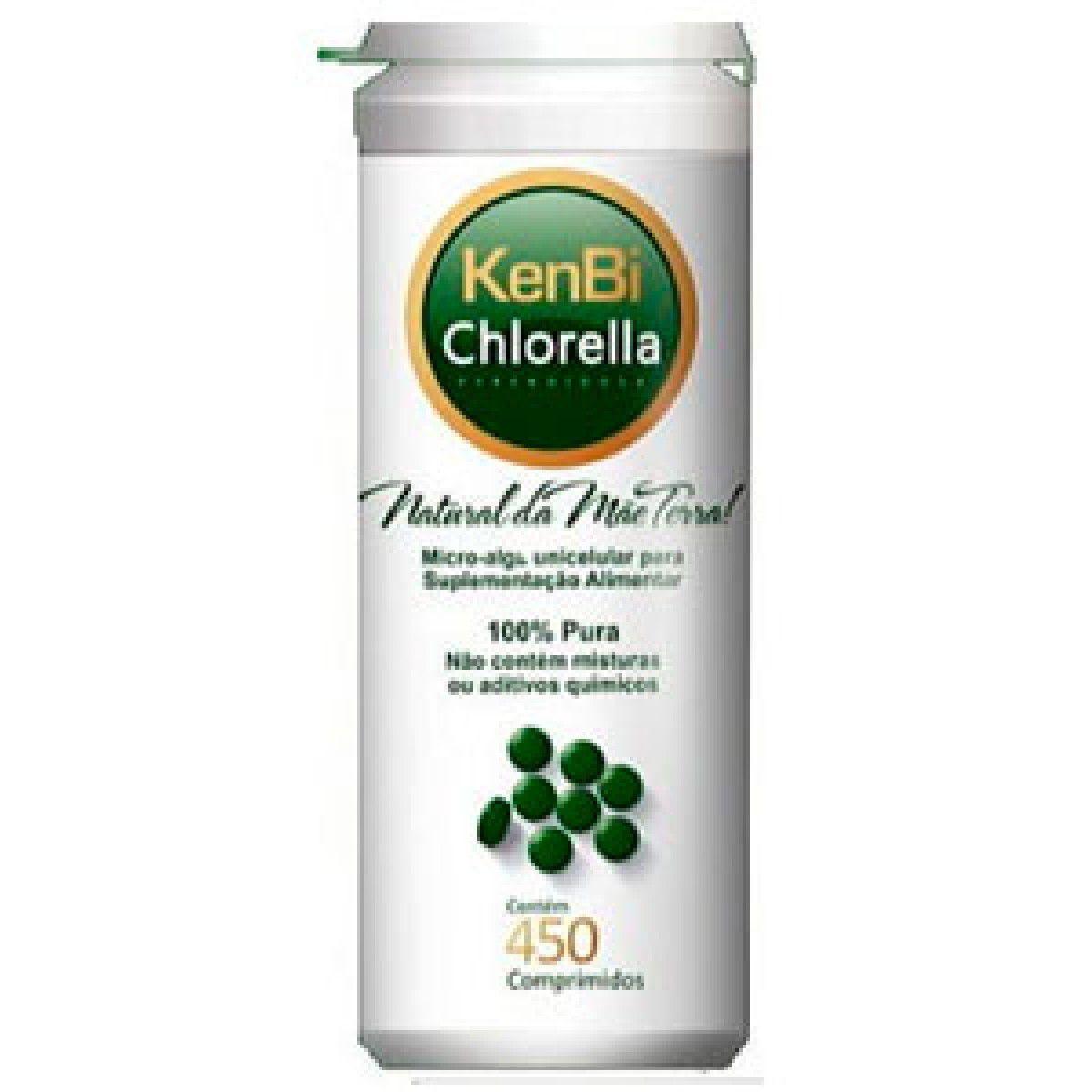 1 Chlorella Kenbi 450 Comprimidos 100% Chlorella -  Super Alimento +