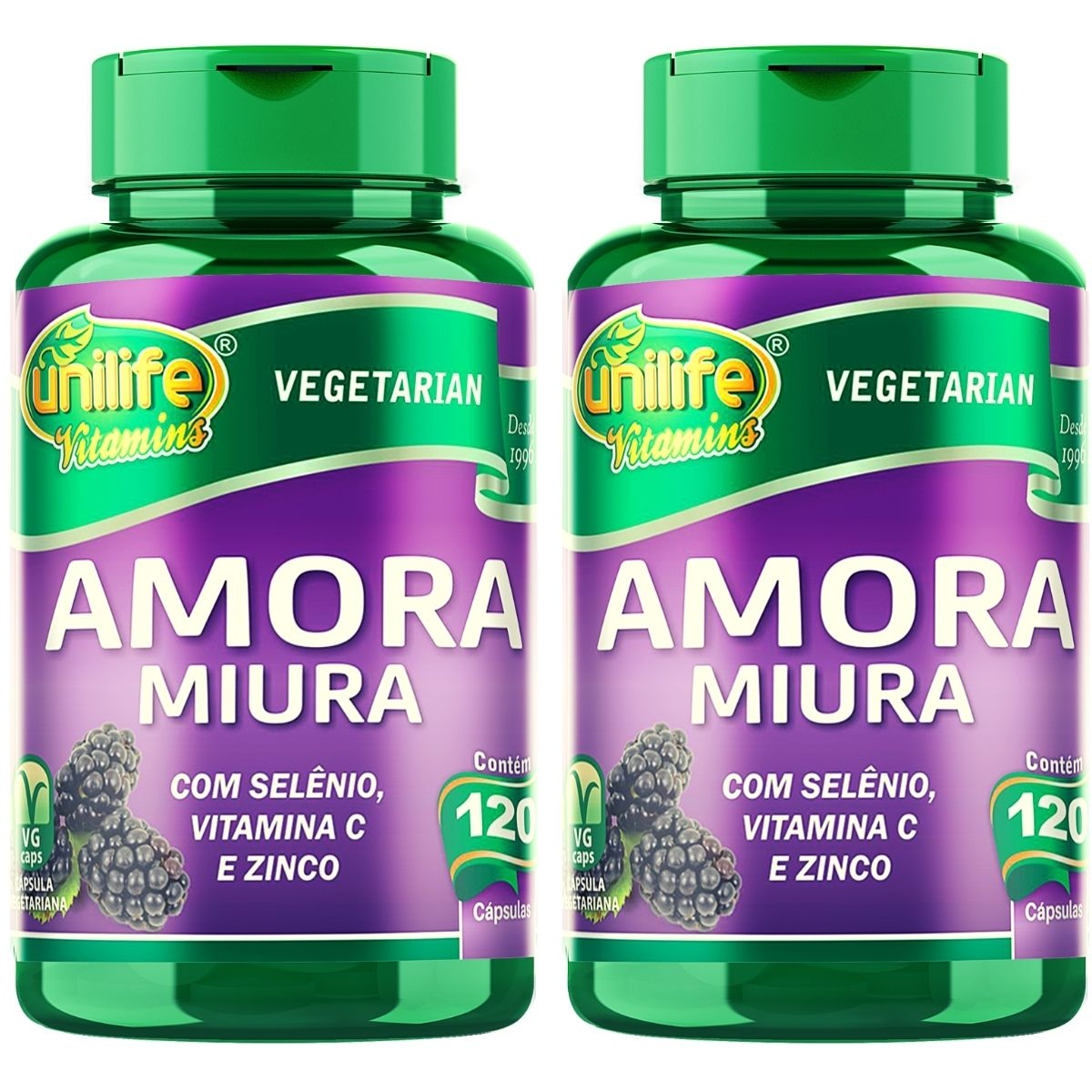 2x Amora Miura 120 Cápsulas Cada - Unilife Vitamins