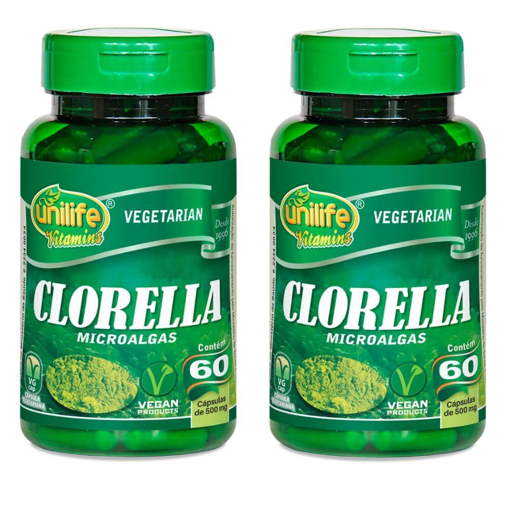 Kit 2 Chlorella Unilife 60 Cápsulas Pura