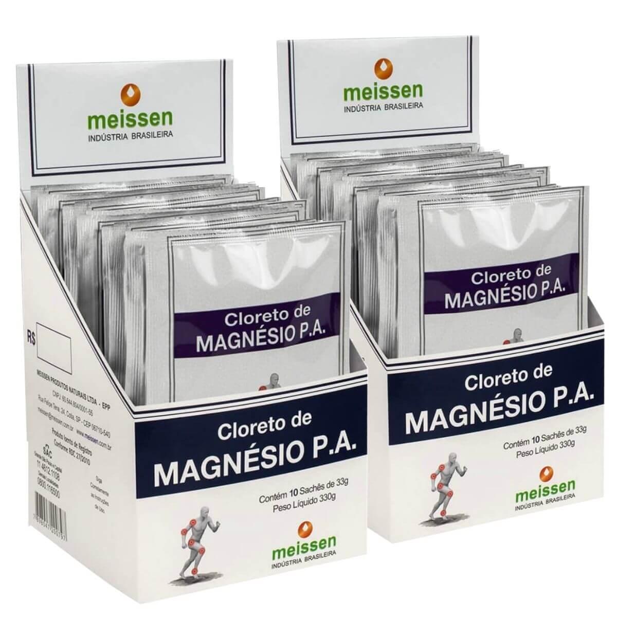 2x Cloreto De Magnésio Pa Display 10x 33g - Total 20 Saches