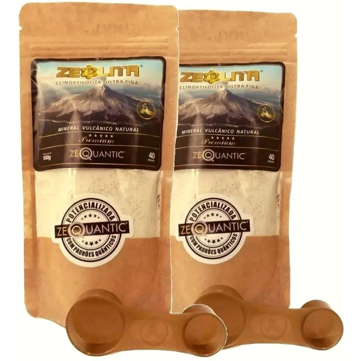2x Zeolita 100g Premium Mais Potencializada + Colher Dosadora