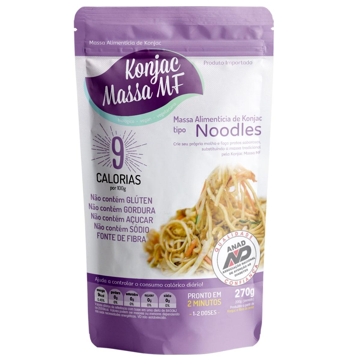 3 Noodles Milagroso Konjac  270g 9 Kcal Emagreça Comendo