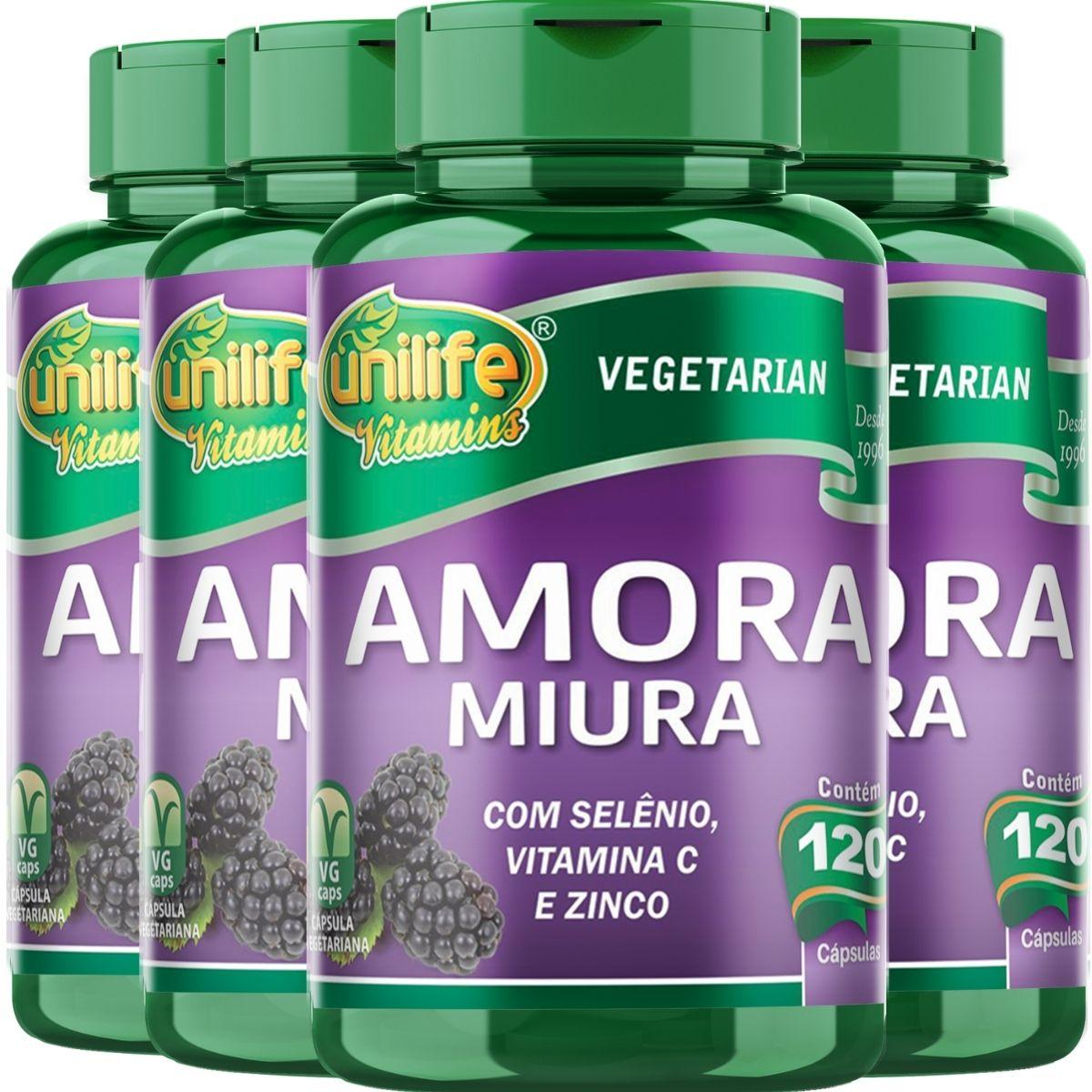 4x Amora Miura Total 480 Cápsulas - Unilife Vitamins
