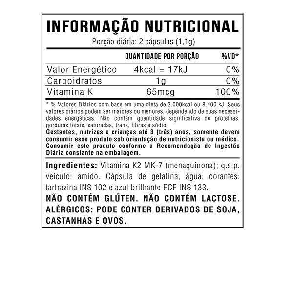 5x Vitamina K2 Mk7 Menaquinona 60 Cápsulas