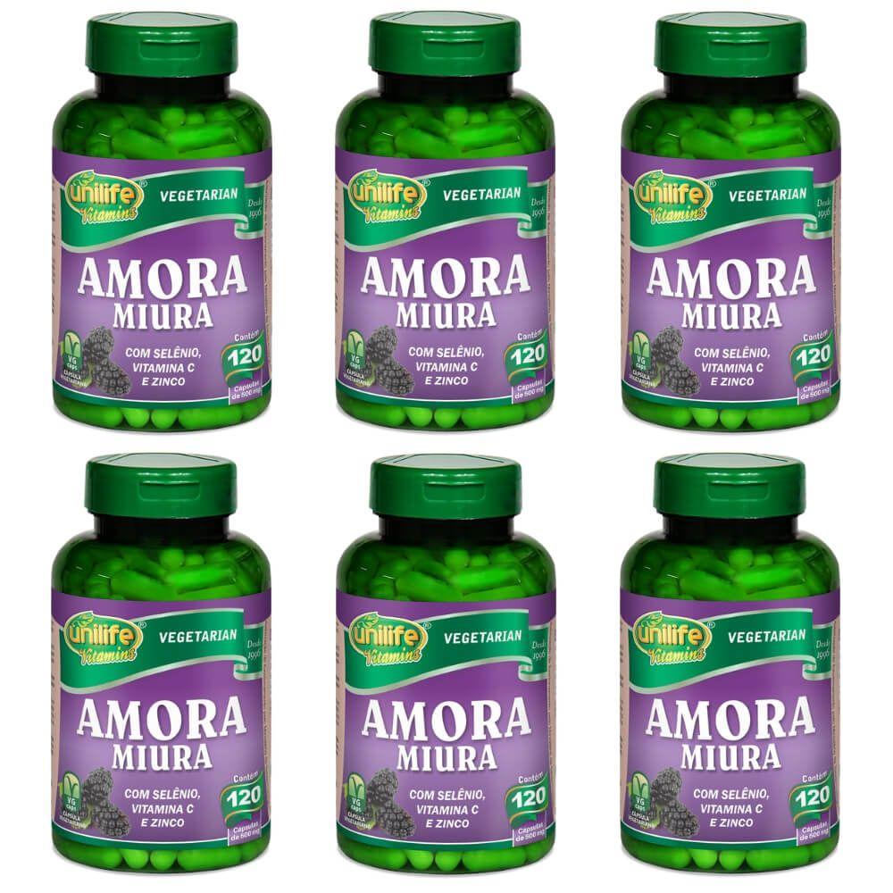 6x Amora Miura Total 720 Cápsulas - Unilife Vitamins