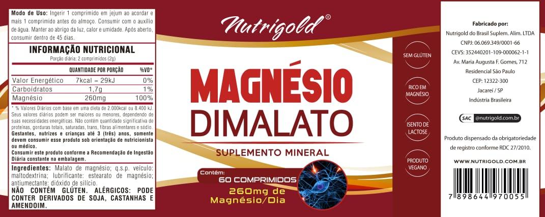 8 x Magnesio Dimalato 60 Comprimidos Cada