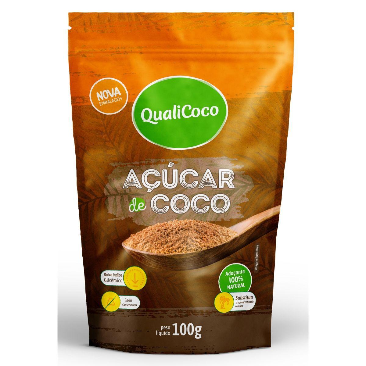 Açúcar De Coco 100% Natural 100g - QualiCôco