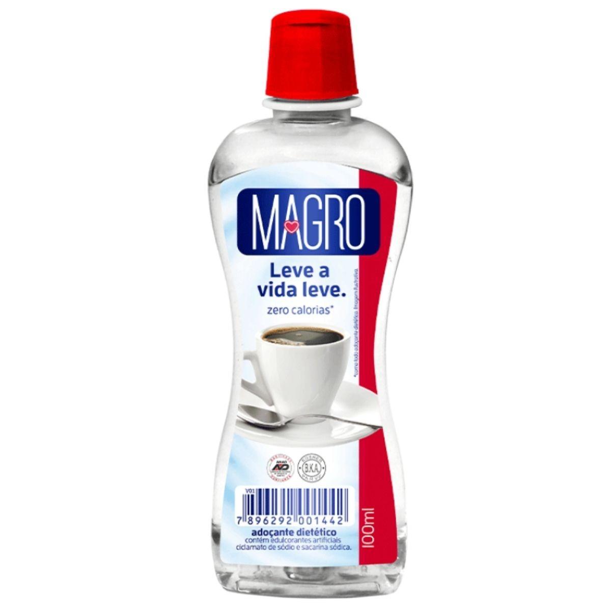 Adoçante Dietético Tradicional Líquido 100ml - Magro