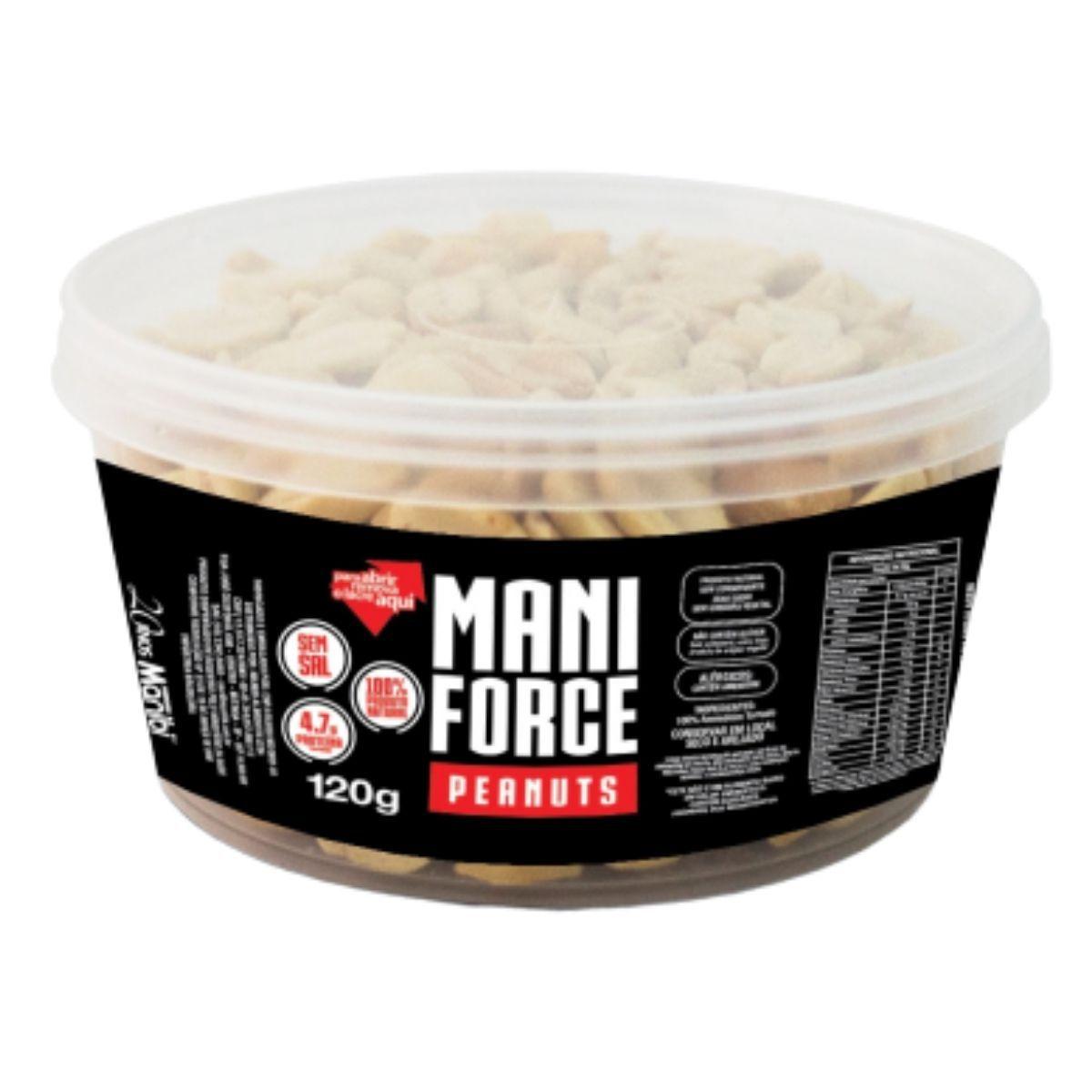 Amendoim Torrado 100% Natural Peanuts Sem Sal Mani Force 120g - Manibi