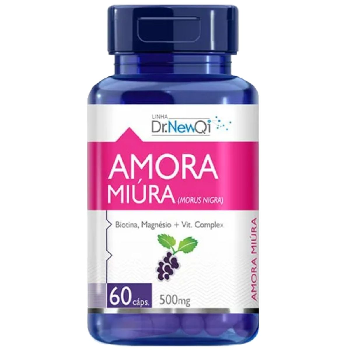 Amora Miúra C/ Vitaminas e Mineral 60 Cápsulas 500mg Dr. Lair/New QI - Upnutri