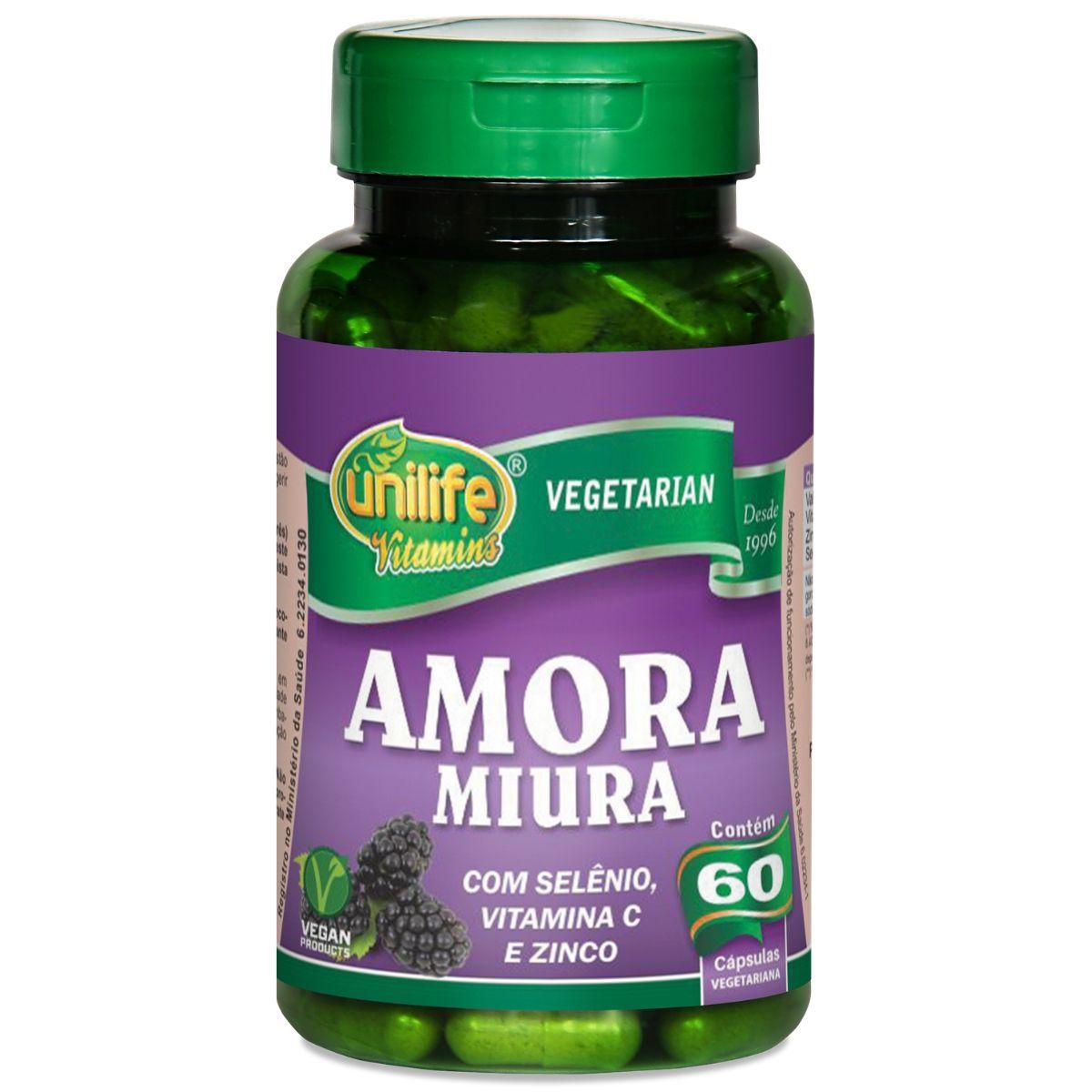 Amora Miura Com Vitaminas 60 Capsulas 500mg - Unilife