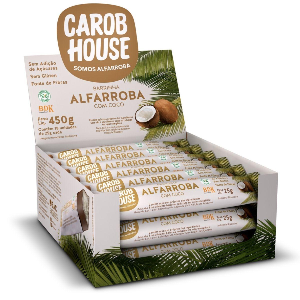 Barrinhas Alfarroba Com Coco 25g Caixa C/ 18 Und - Carob House