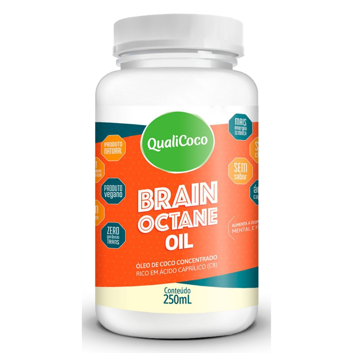 Brain Octane Óleo De Coco Concentrado 250ml - QualiCôco