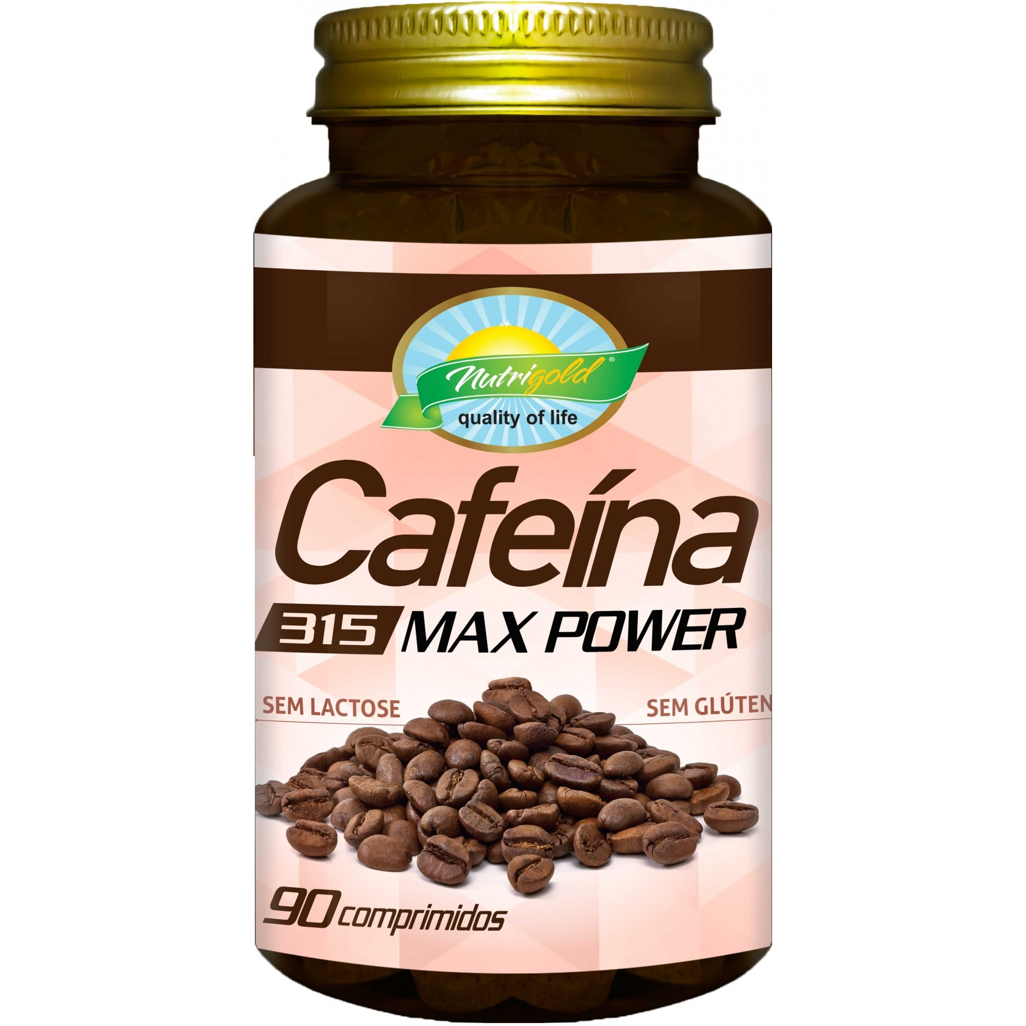 Cafeína 90 Comprimidos 315 Mg Max Power