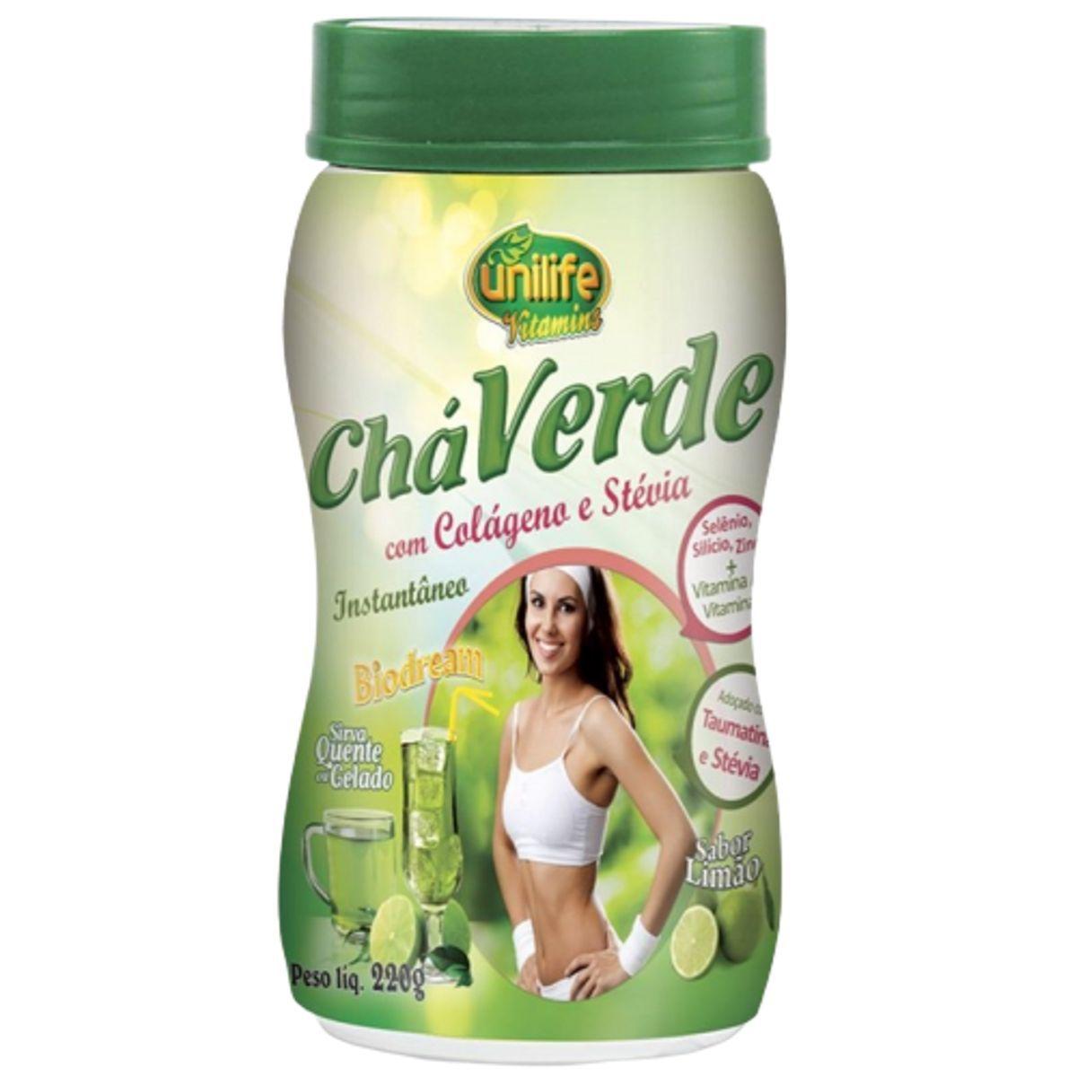 Chá Verde C/ Colágeno E Stévia 220g - Unilife