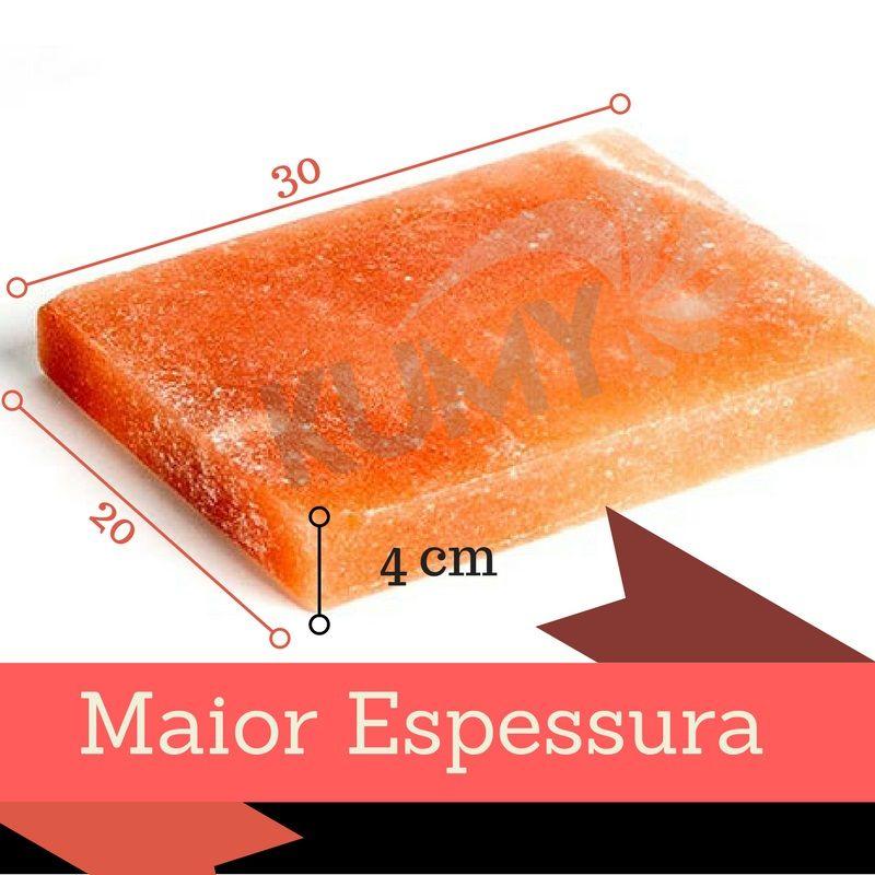 Chapa / Pedra De Sal Rosa Do Himalaia 30 x 20 x 4 Cm + 1 Kgs Sal Rosa Do Himalaia Fino/ Grosso
