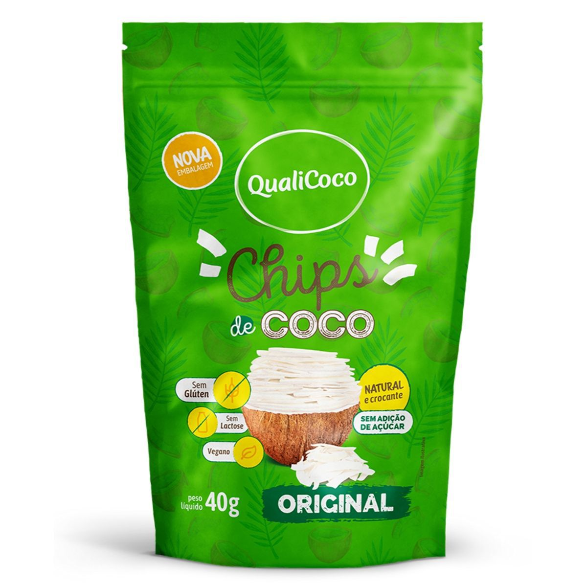 Chips De Coco Original Snack Crocante - QualiCôco