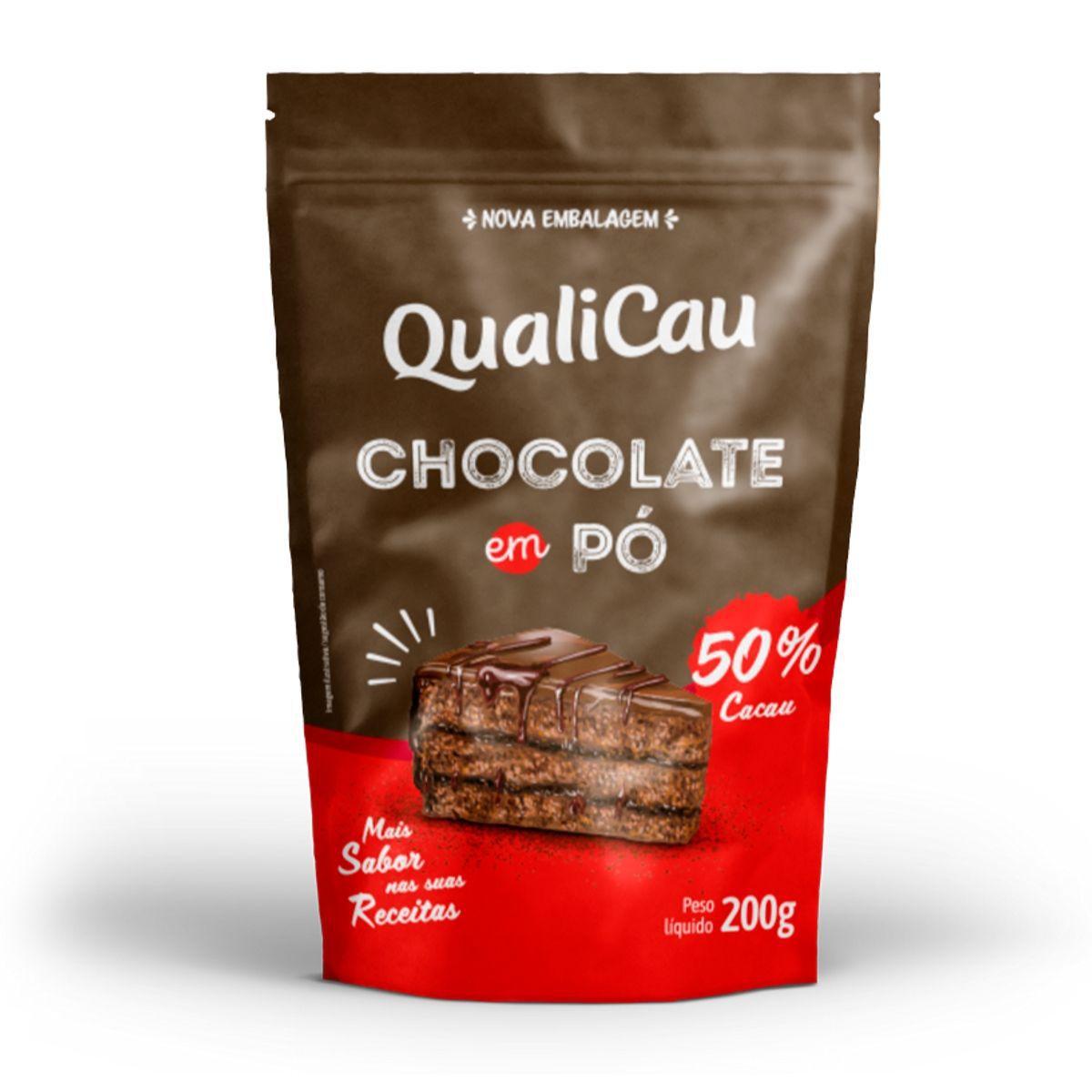 Chocolate Em Pó 50% Cacau 200g - QualiCôco