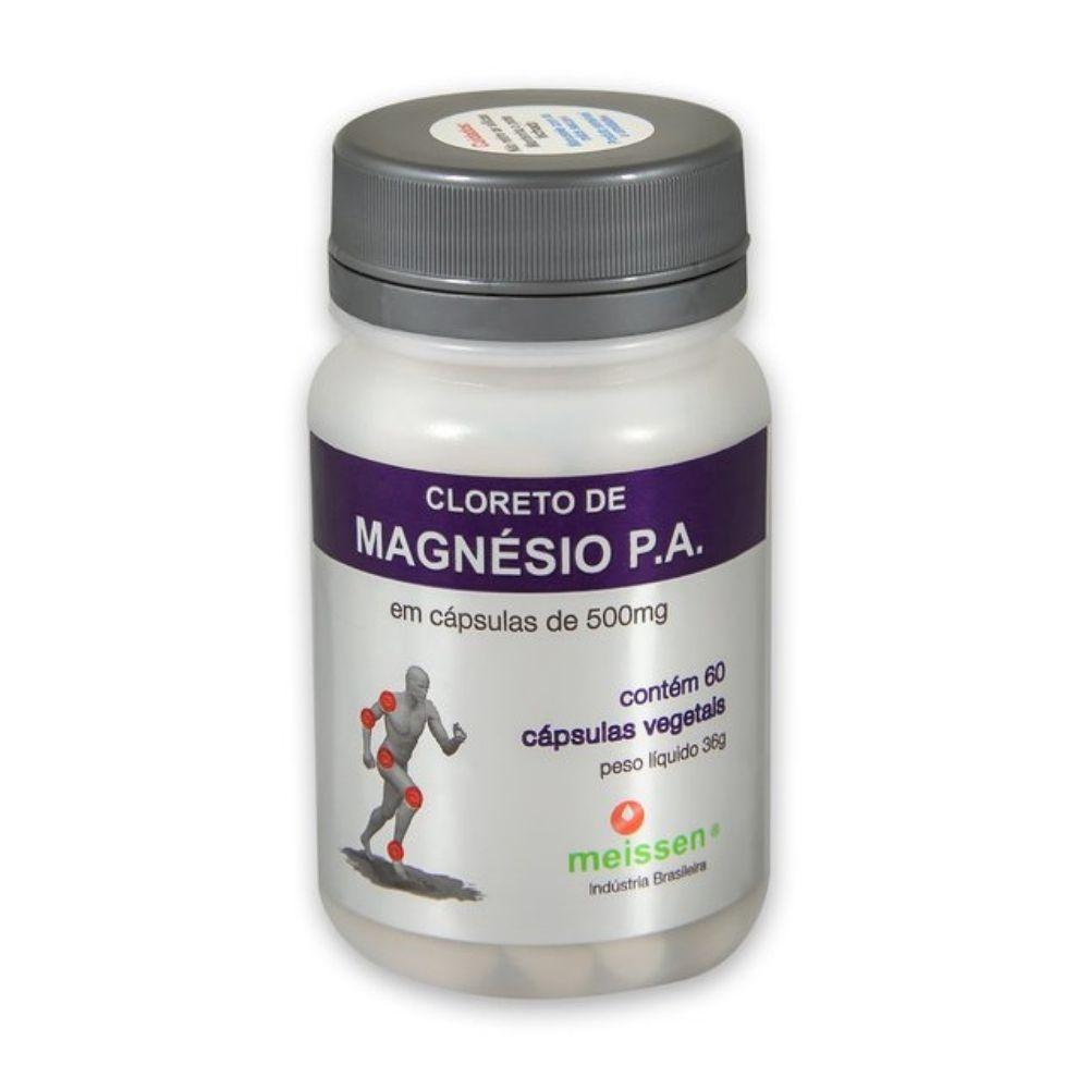Cloreto De Magnésio Pa 60 Cápsulas 500Mg - Meissen