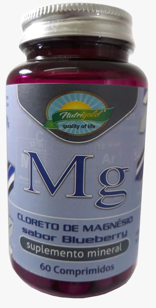 Cloreto de Magnésio Sabor Blueberry - 60 Comprimidos 1,2g