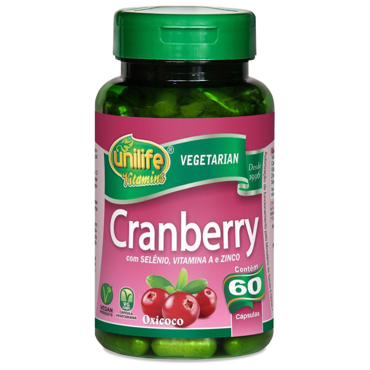 Cranberry Antioxidante 500mg 60 Capsulas - Unilife