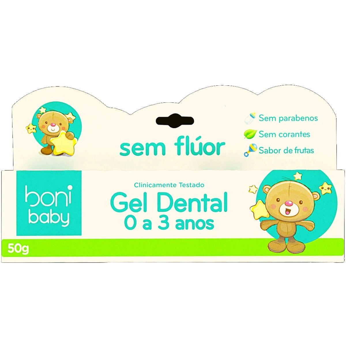 Creme Dental Sem Flúor Baby Sabor De Frutas 50g - Boni