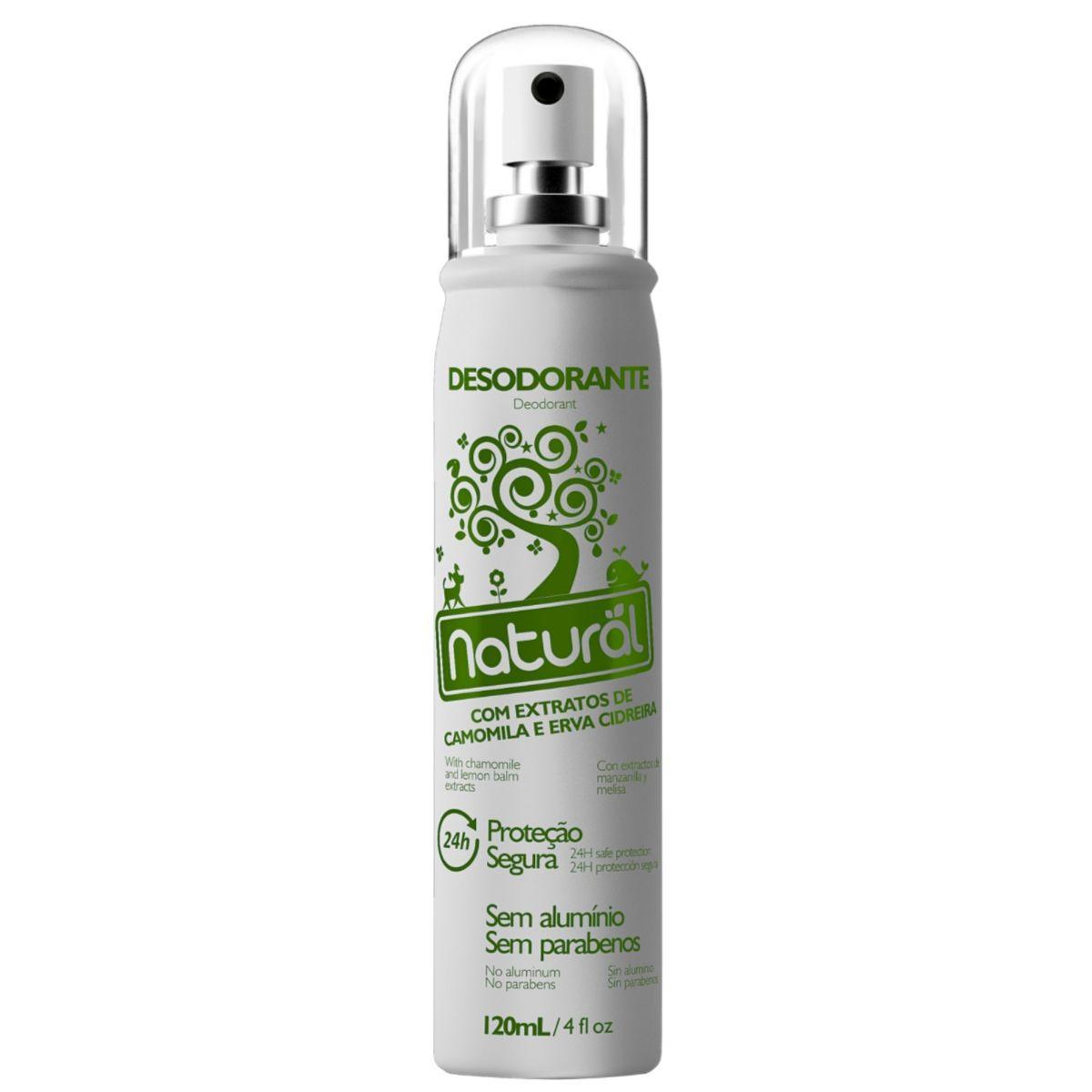 Desodorante Spray Suavetex Orgânico Natural Camomila e Erva Cidreira 120ml - Suavetex