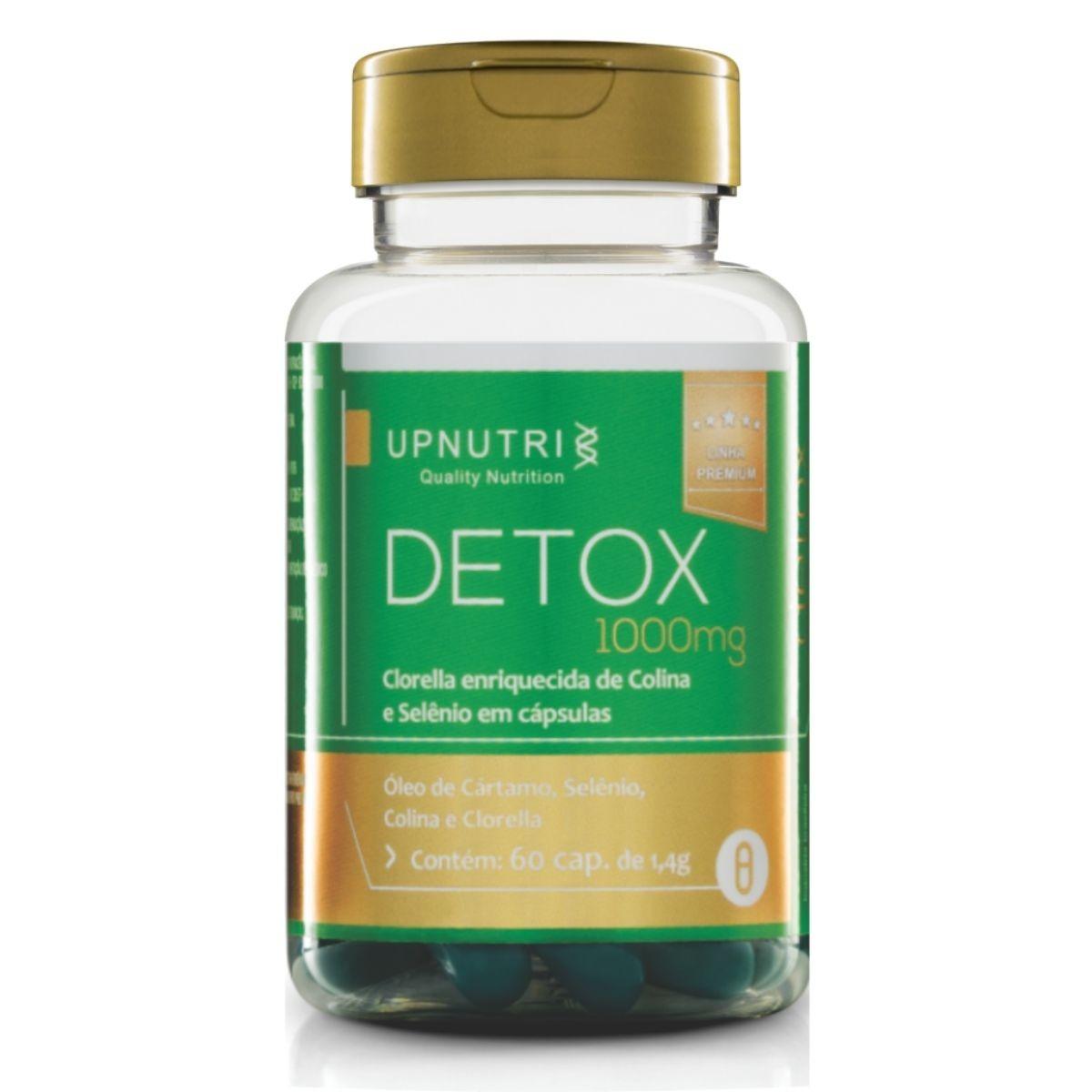 Detox 60 Cápsulas 1000mg Upnutri  - Clorella, Colina, Selênio e Óleo de Cartámo