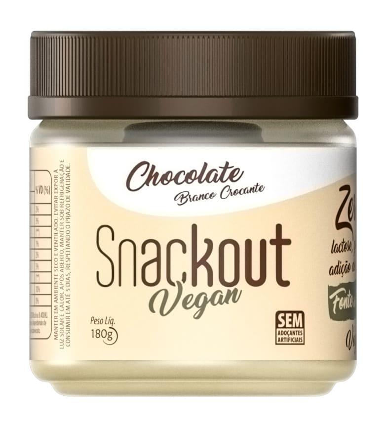 Doce Chocolate Branco Vegano 180g Snackout