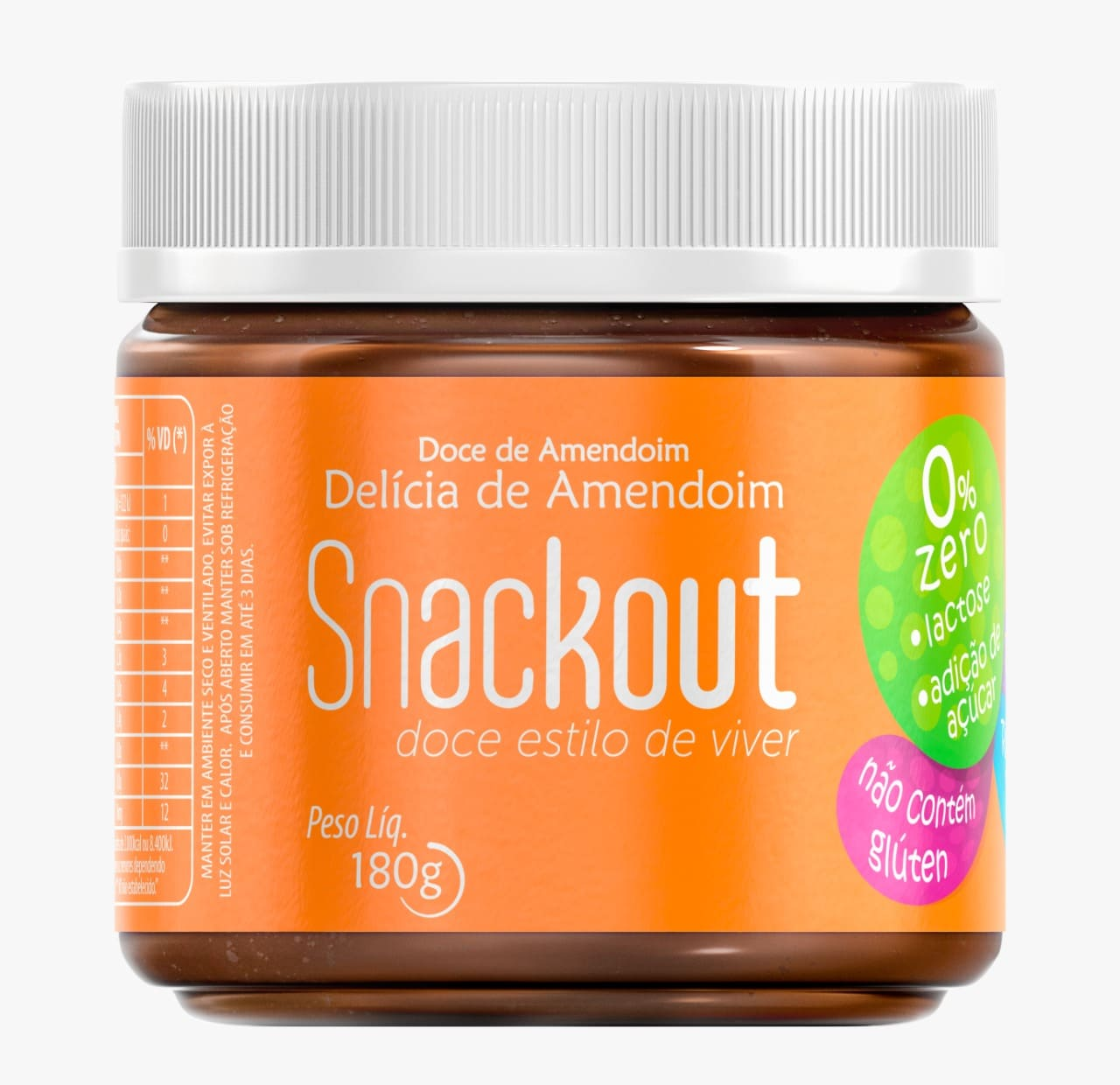 Doce Delícia De Amendoim Low Carb Snackout Zero 180g