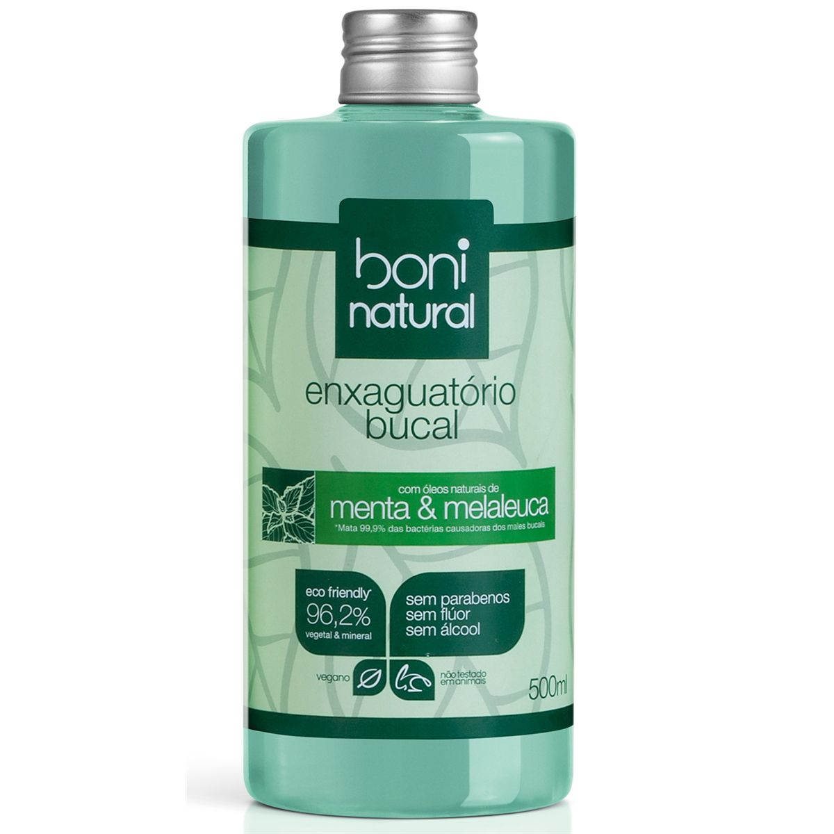 Enxaguante Bucal Natural Menta e Melaleuca 500ml Boni
