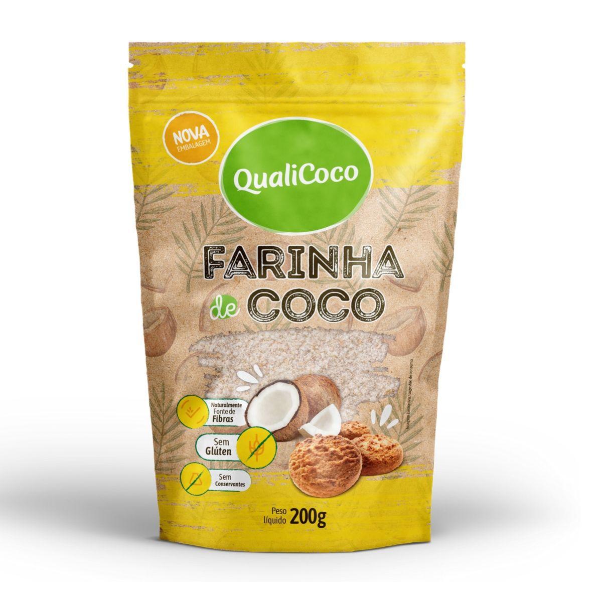 Farinha De Coco Zero Lactose 200g - QualiCôco