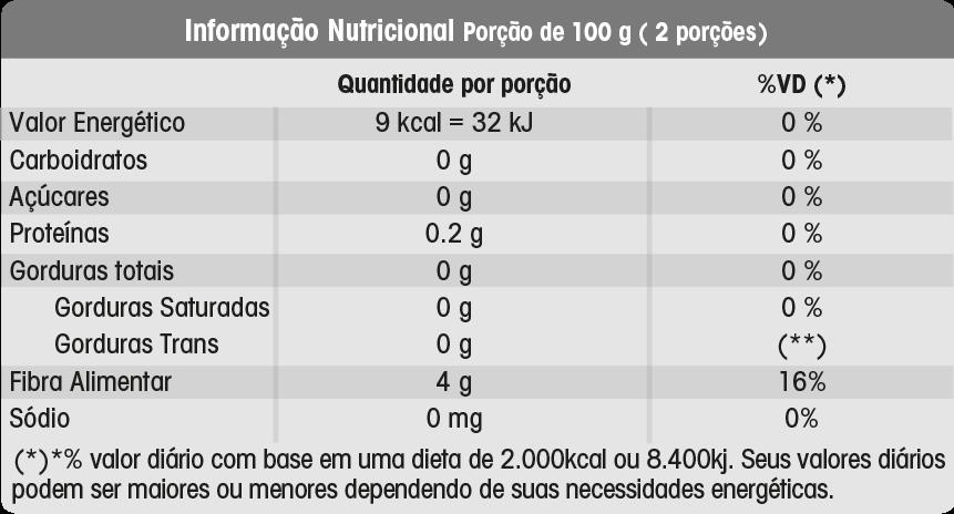 Fettuccine Konjac Massa 270g - 9 Calorias