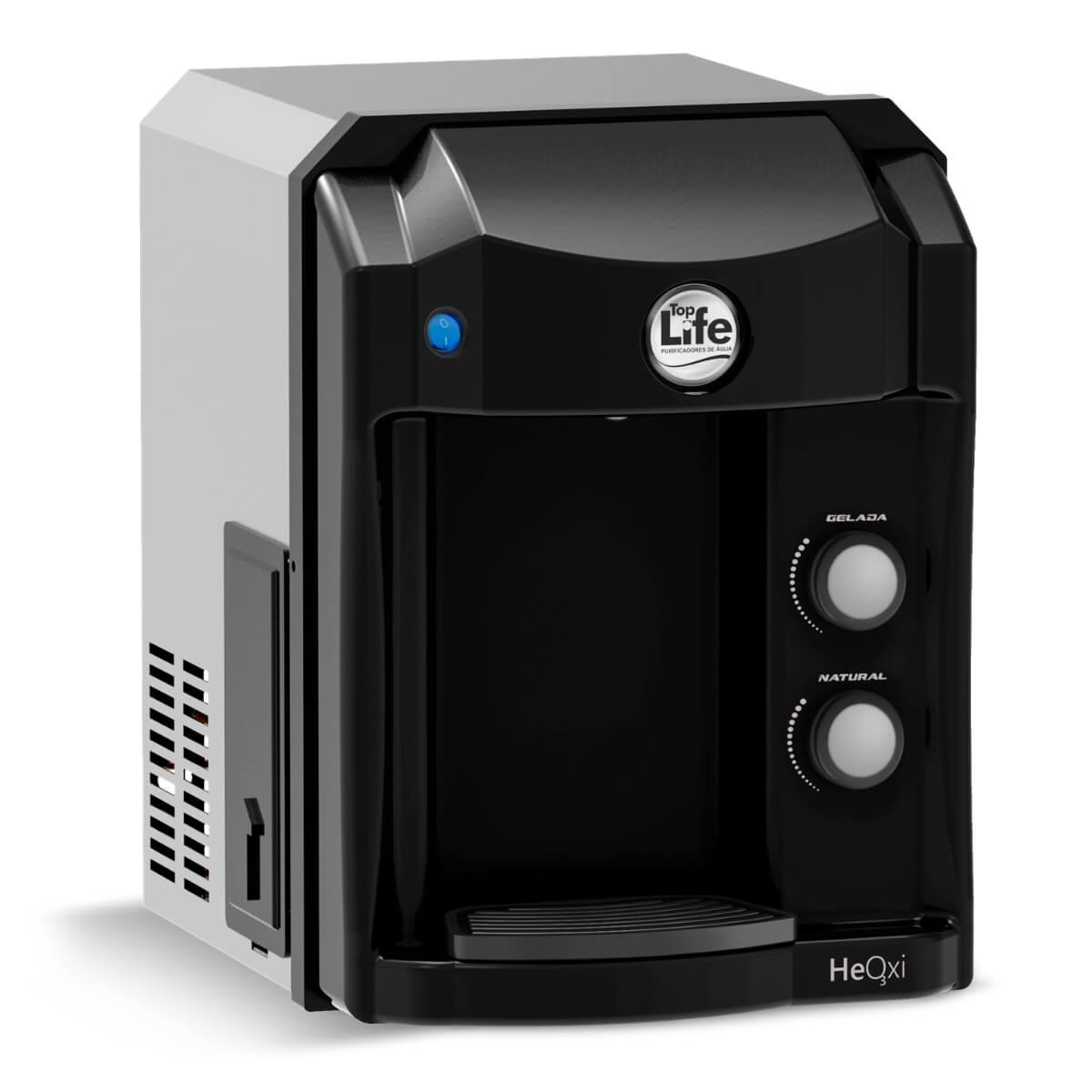Filtro Purificador Alcalino e Ionizado Com Ozônio Top Life - Preto 220V - Frete Grátis