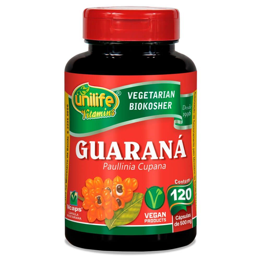 Guaraná em Cápsulas 500mg 120 Cáps - Unilife