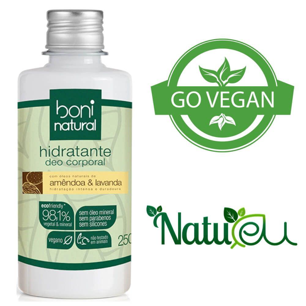 Hidratante Natural Vegano - Amendoa e Lavanda 250ml Boni
