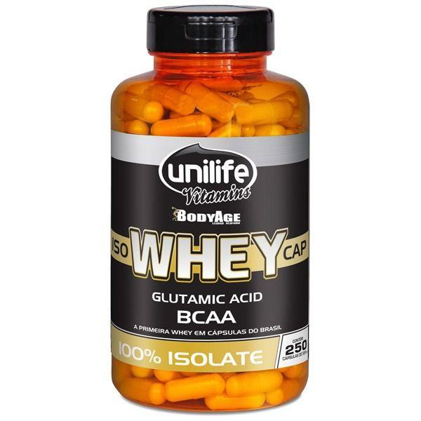 Iso Whey Protein Isolado 100% - 250 Cápsulas 550mg - Unilife