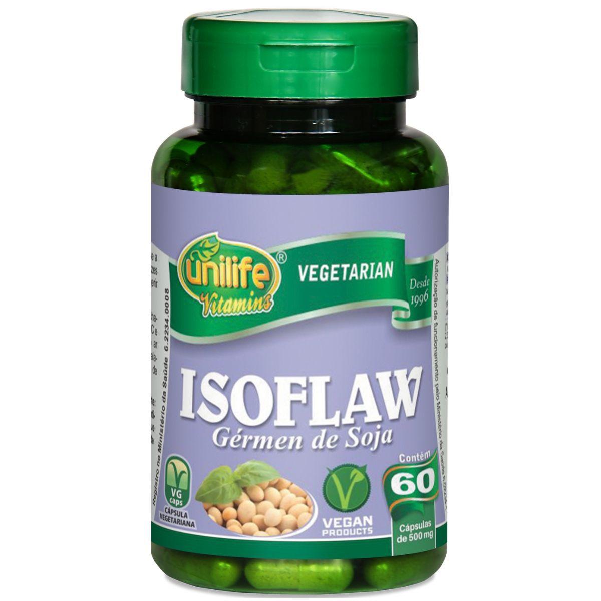 Isoflaw Gérmen de Soja 500mg 60 Cápsulas - Unilife