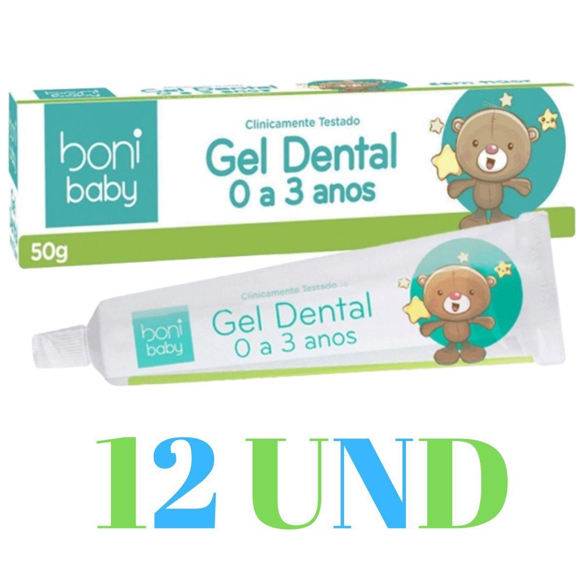 Kit 12 Creme Dental Sem Flúor Baby Sabor De Frutas 50g - Boni