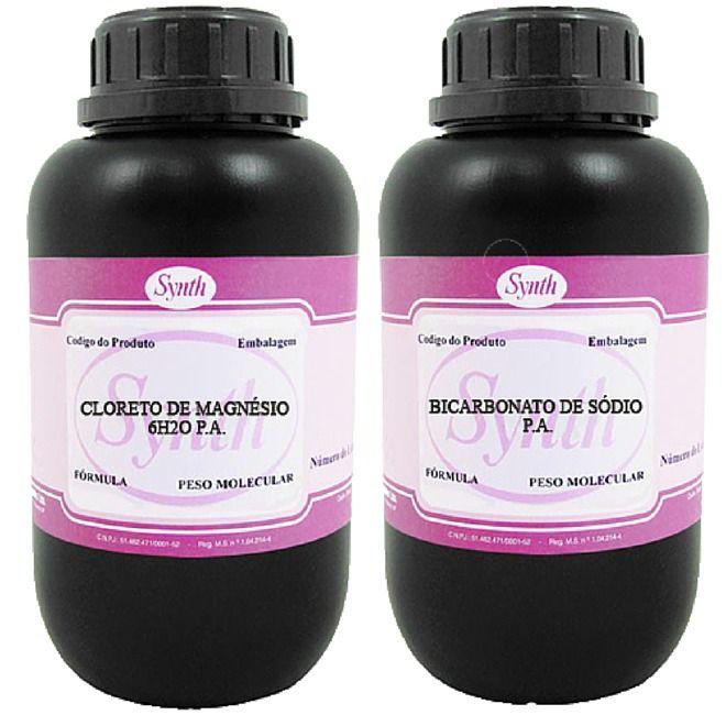 Kit: 1 Kg Cloreto De Magnésio + 1 Kg Bicarbonato De Sódio - Synth