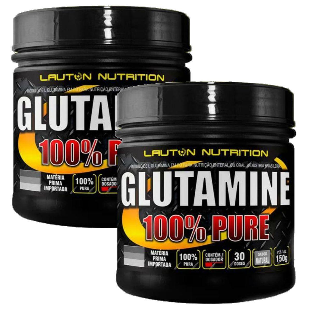 Kit 2 Glutamina Power 100% Pura 150g - Lauton Nutrition