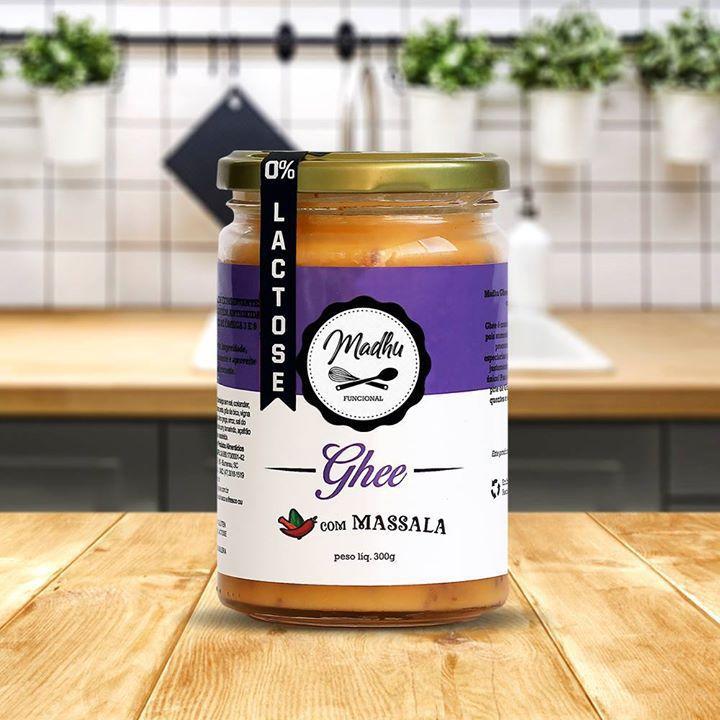 Kit 2 Manteiga Ghee 300g Massala Clarificada Zero Lactose Zero Gluten