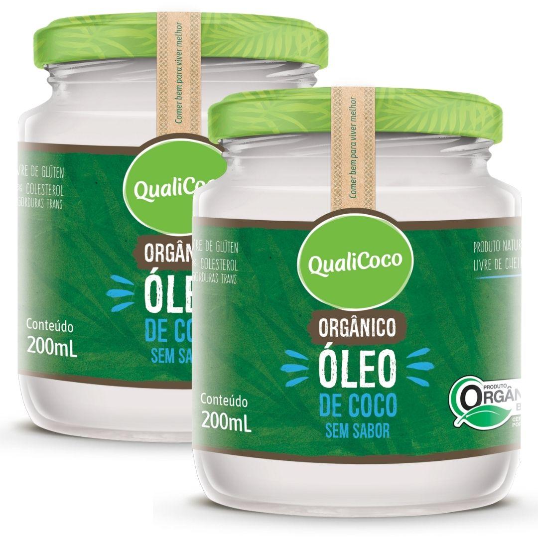 Kit 2 Óleo De Coco Sem Sabor E Sem Cheiro Orgânico 200ml - QualiCoco