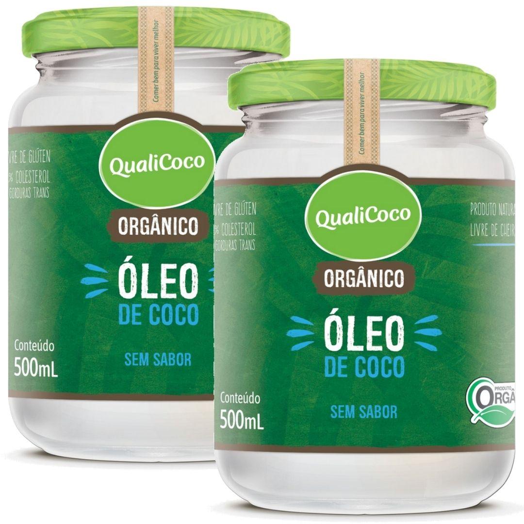 Kit 2 Óleo De Coco Sem Sabor E Sem Cheiro Orgânico 500ml - QualiCoco