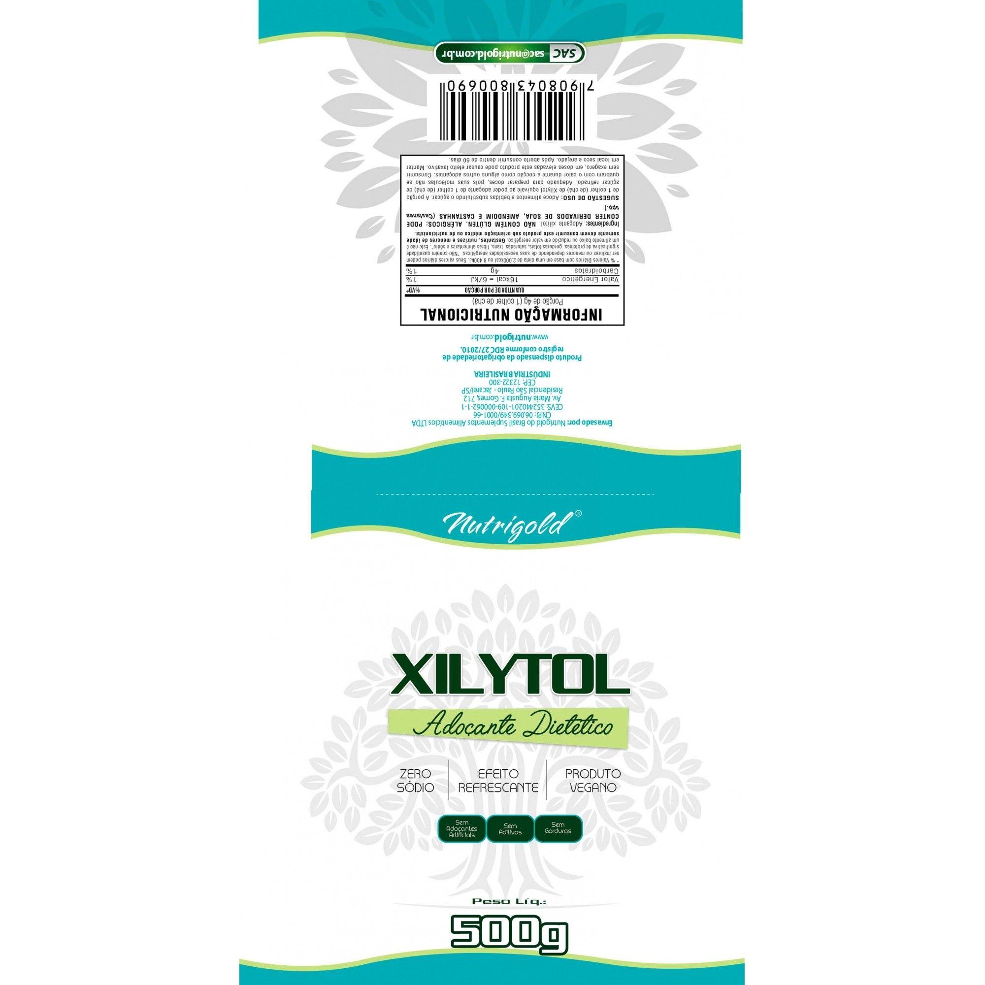 Kit 2 Xilytol 500g  Adoçante Dietético 100% Puro