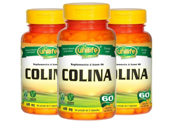 Kit 3 Colina Unilife - 60 Cápsulas 800mg
