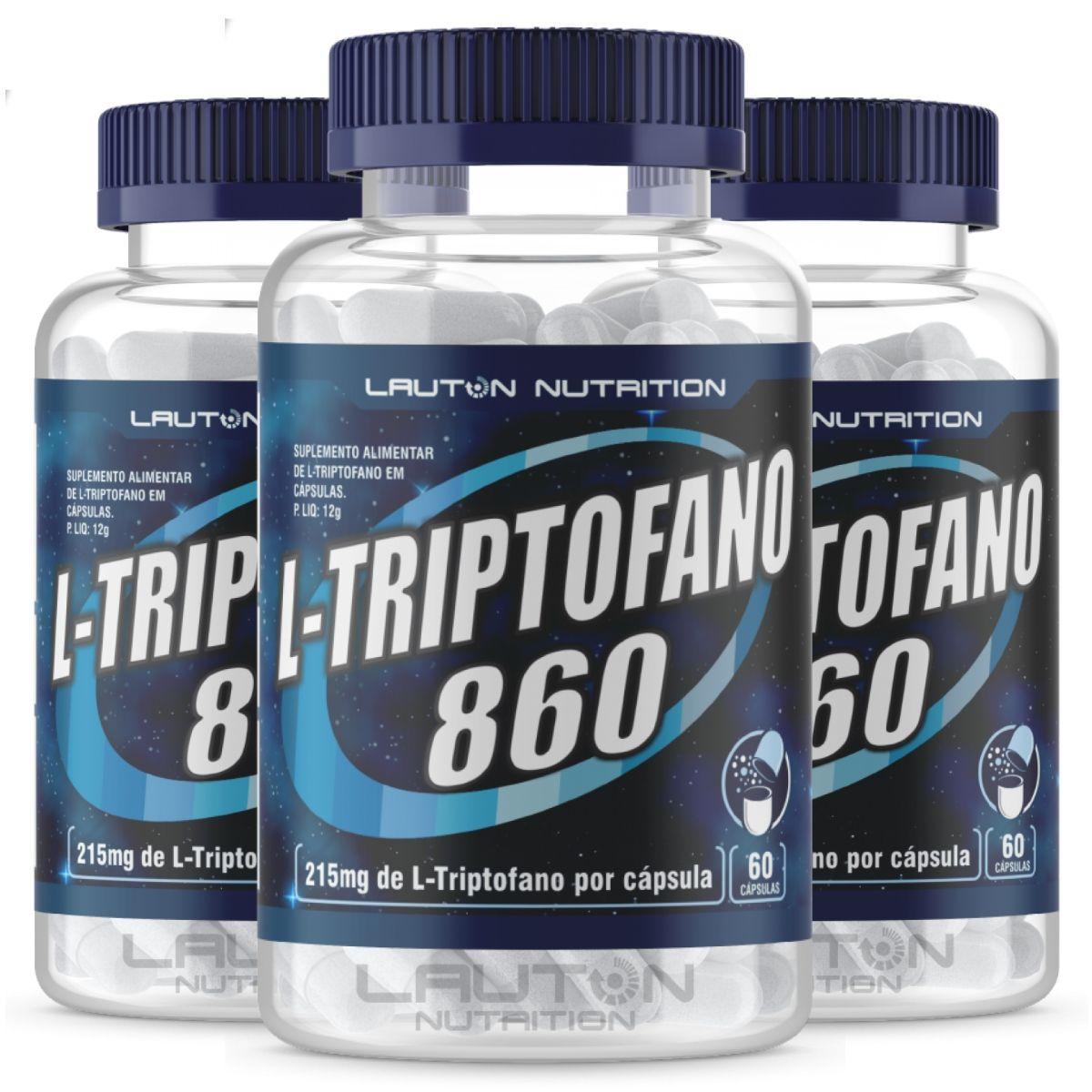Kit 3 L-triptofano 60 cápsulas - Lauton Nutrition