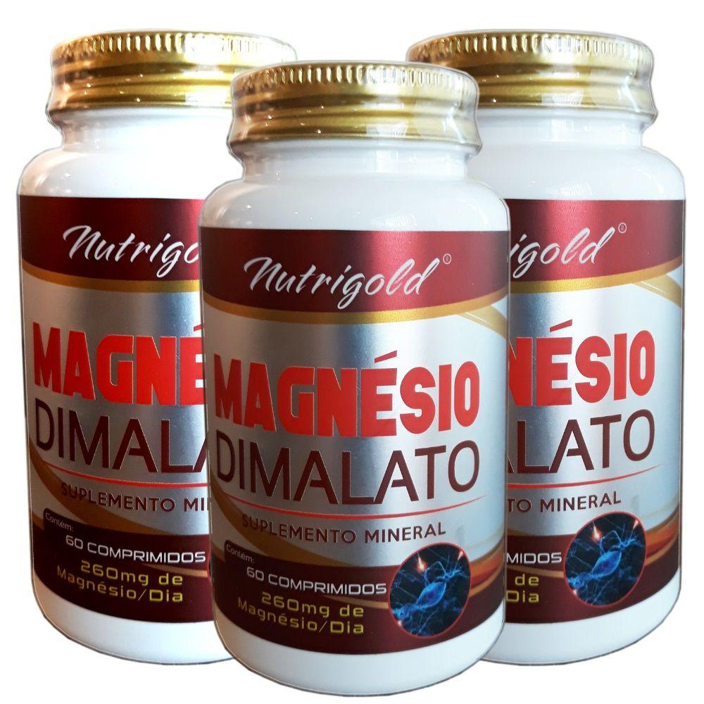 Kit 3 x Magnesio Dimalato = 180 Comprimidos